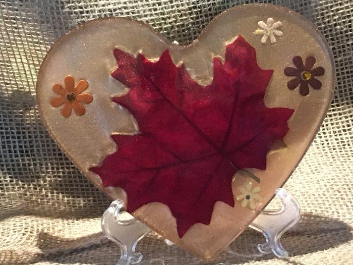 Heart Fall Leaves